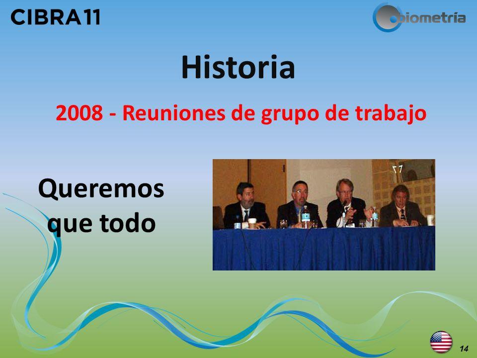 2008 - Reuniones de grupo de trabajo