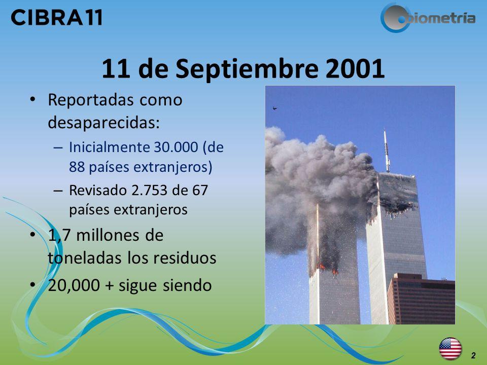 11 de Septiembre 2001 Reportadas como desaparecidas: