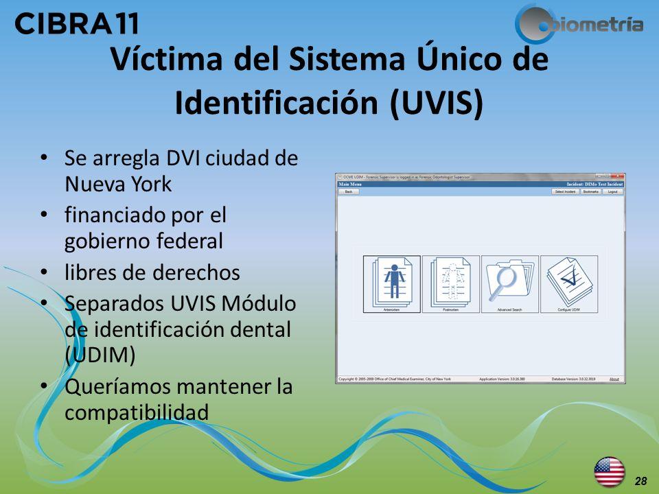Víctima del Sistema Único de Identificación (UVIS)