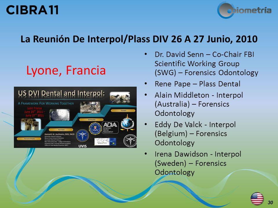 La Reunión De Interpol/Plass DIV 26 A 27 Junio, 2010