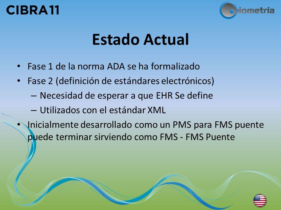 Estado Actual Fase 1 de la norma ADA se ha formalizado