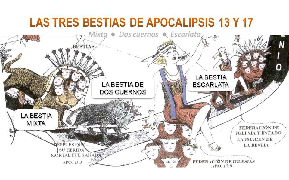 LAS TRES BESTIAS DE APOCALIPSIS 13 Y 17