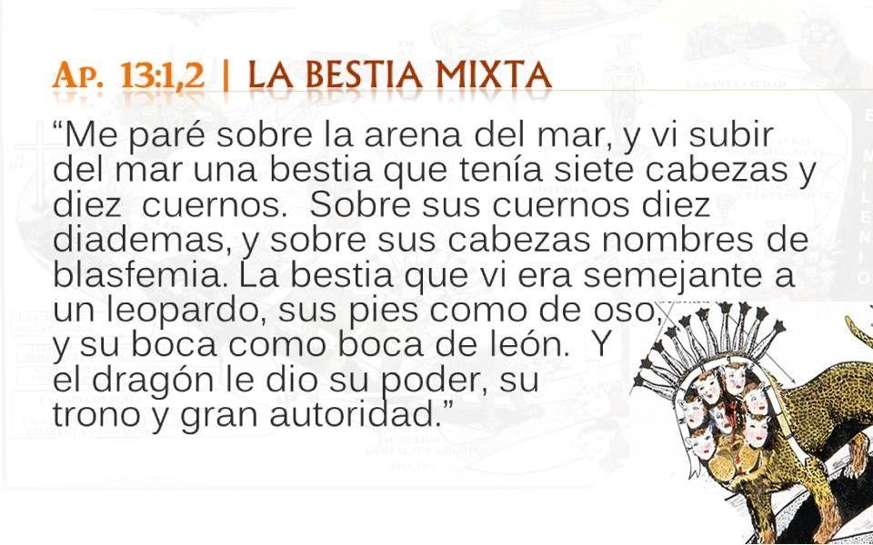 Ap. 13:1,2 LA BESTIA MIXTA