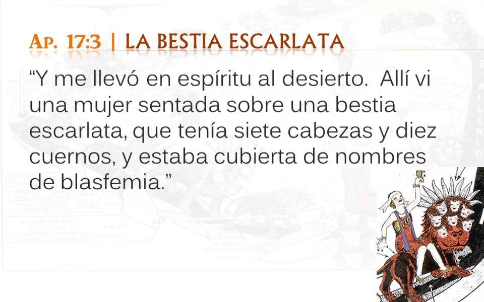 Ap. 17:3 | LA BESTIA ESCARLATA