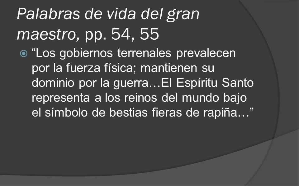 Palabras de vida del gran maestro, pp. 54, 55