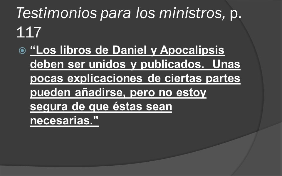 Testimonios para los ministros, p. 117