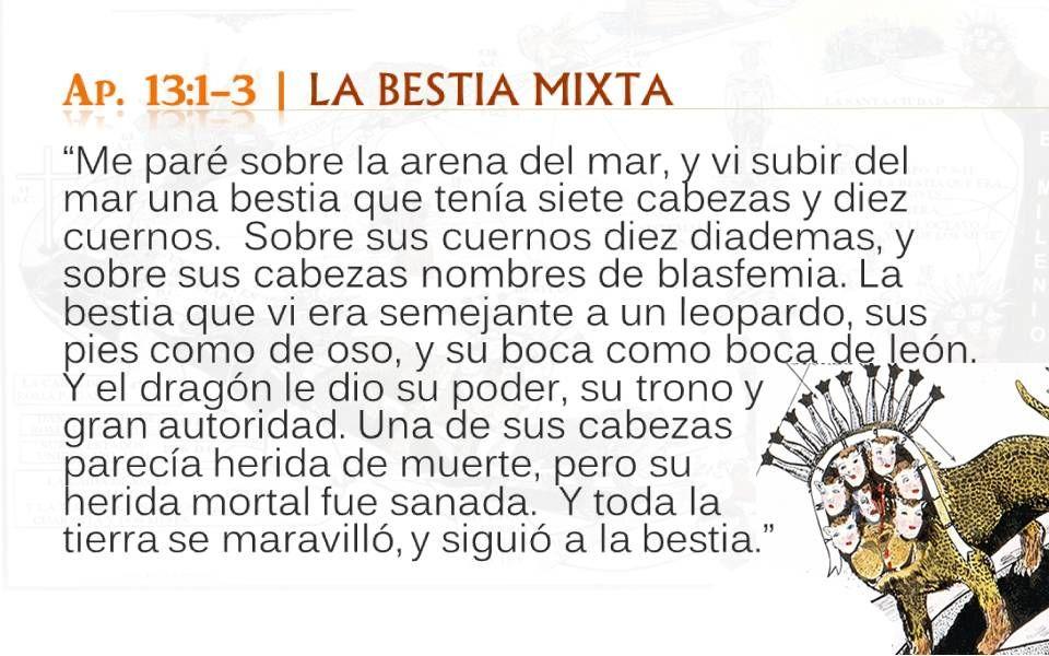 Ap. 13:1-3 LA BESTIA MIXTA
