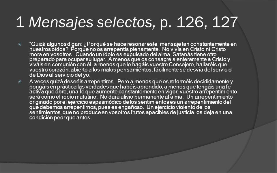 1 Mensajes selectos, p. 126, 127