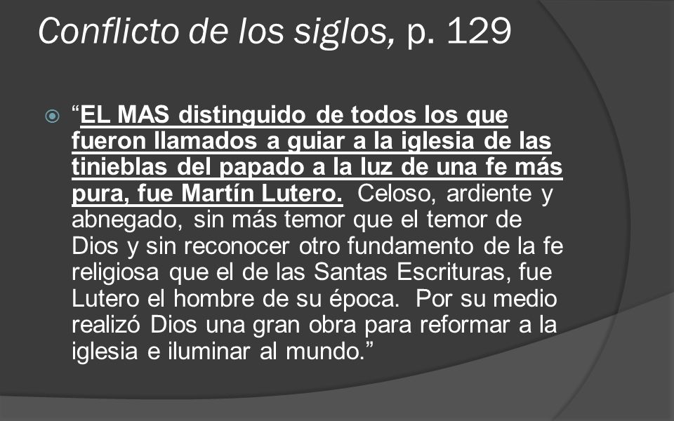 Conflicto de los siglos, p. 129