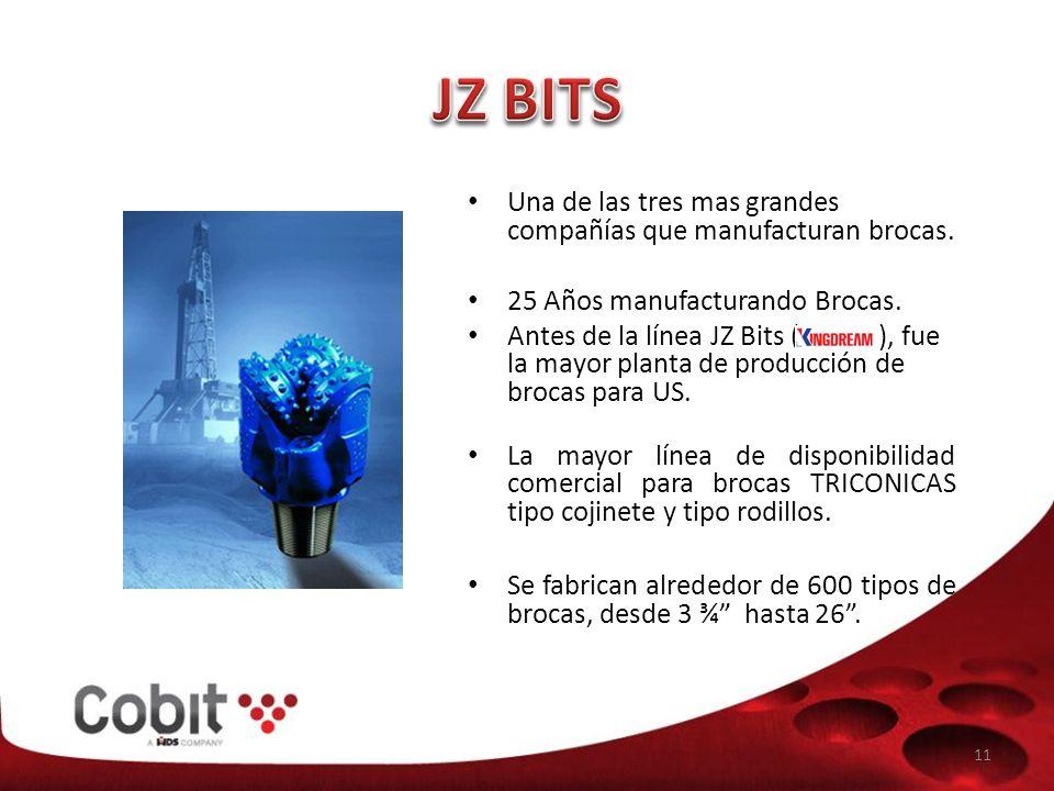 JZ BITS Una de las tres mas grandes compañías que manufacturan brocas.