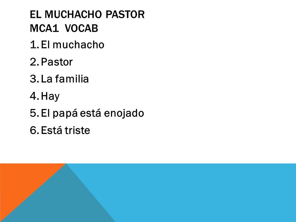 El muchacho pastor MCA1 vocab