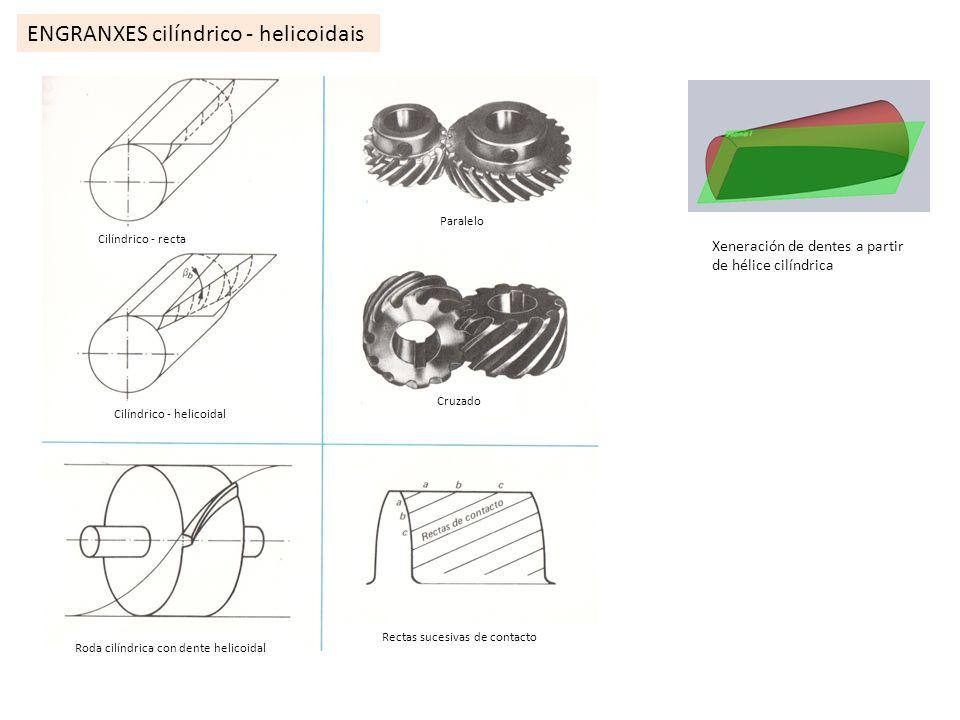 ENGRANXES cilíndrico - helicoidais