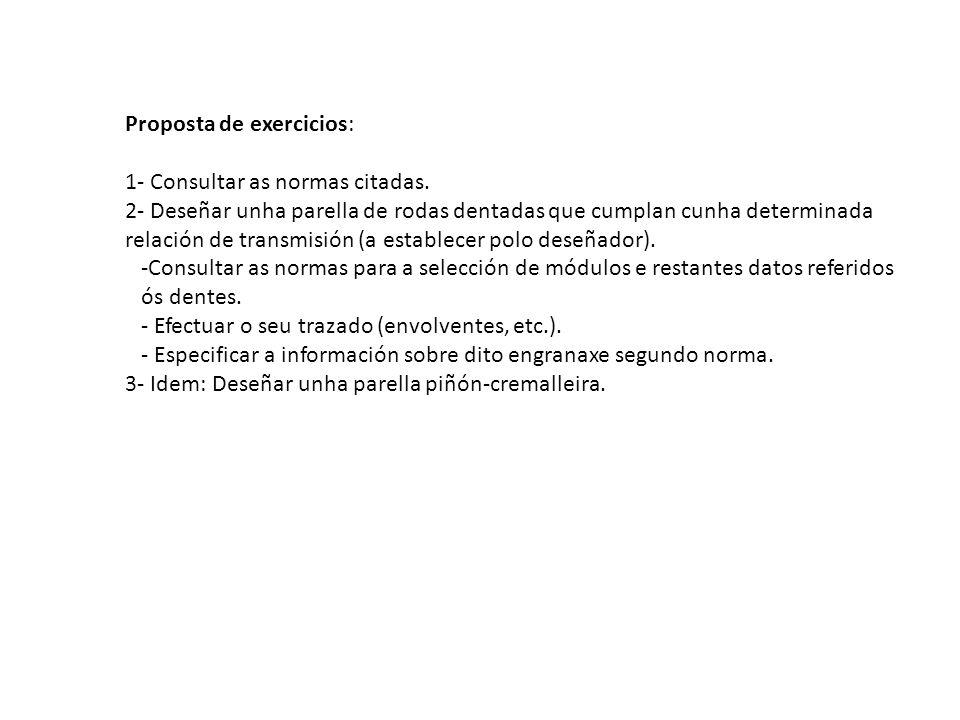 Proposta de exercicios: