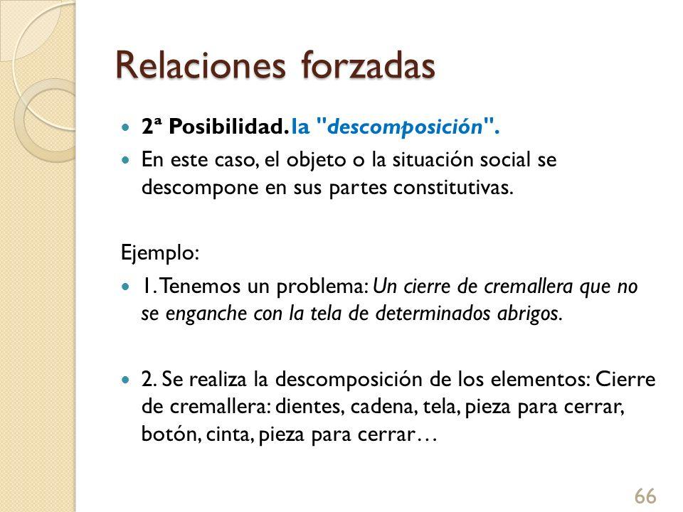 Relaciones forzadas 2ª Posibilidad. la descomposición .