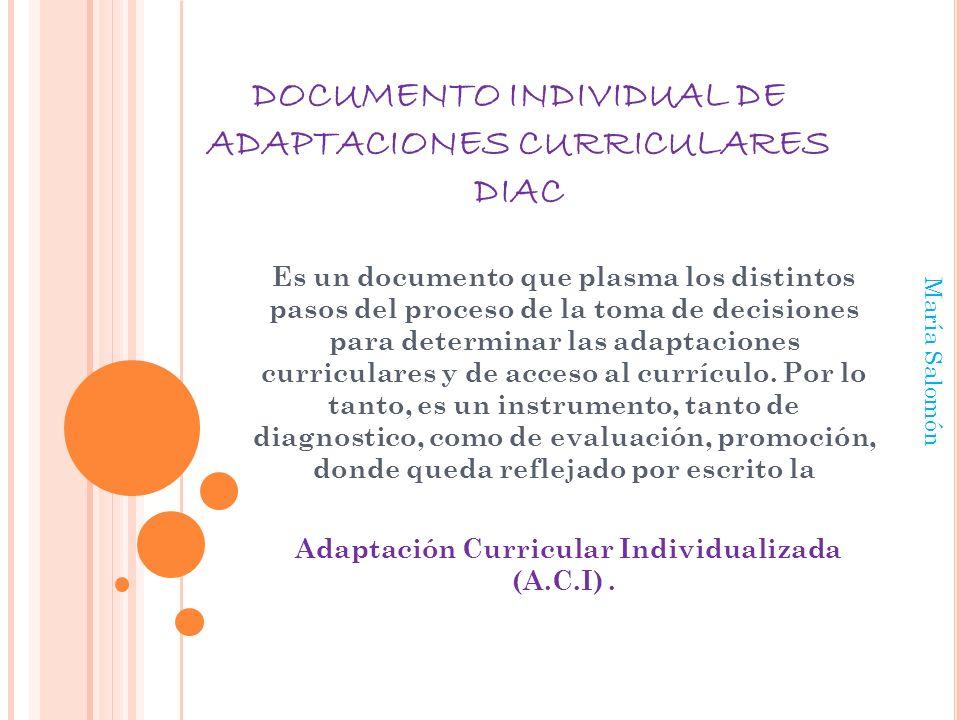 DOCUMENTO INDIVIDUAL DE ADAPTACIONES CURRICULARES DIAC