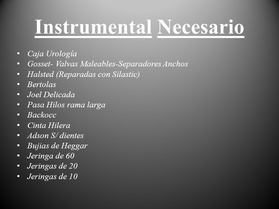Instrumental Necesario
