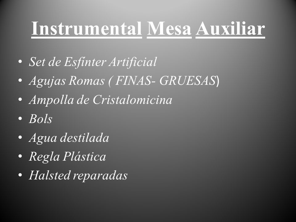 Instrumental Mesa Auxiliar
