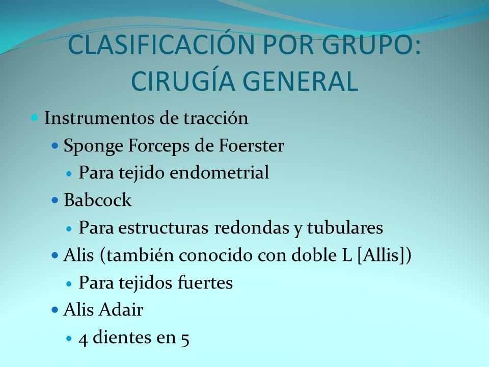 CLASIFICACIÓN POR GRUPO: CIRUGÍ CLASIFICACIÓN POR GRUPO: CIRUGÍA GENERAL