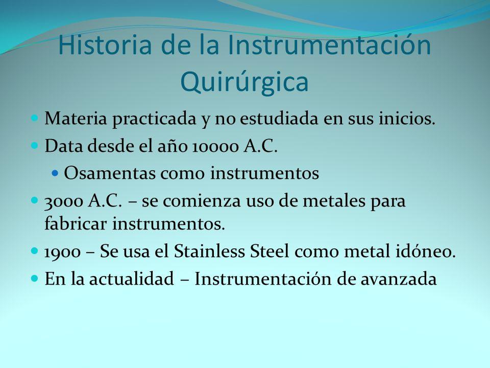Historia de la Instrumentación Quirúrgica