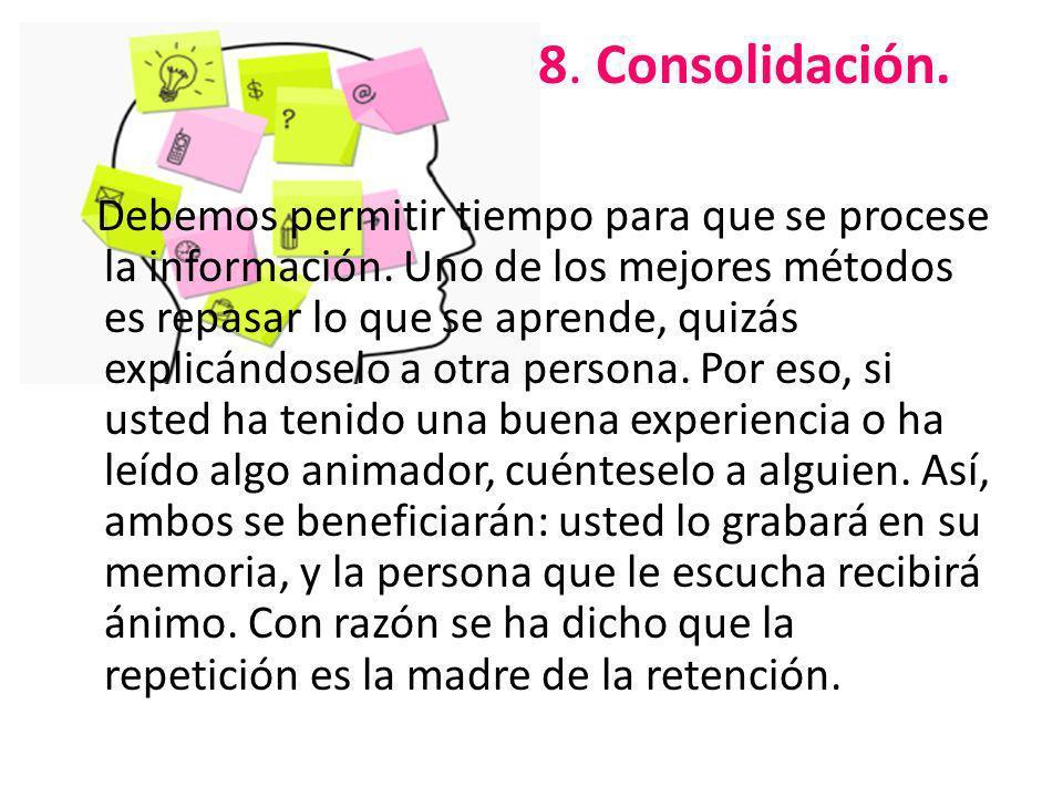 8. Consolidación.