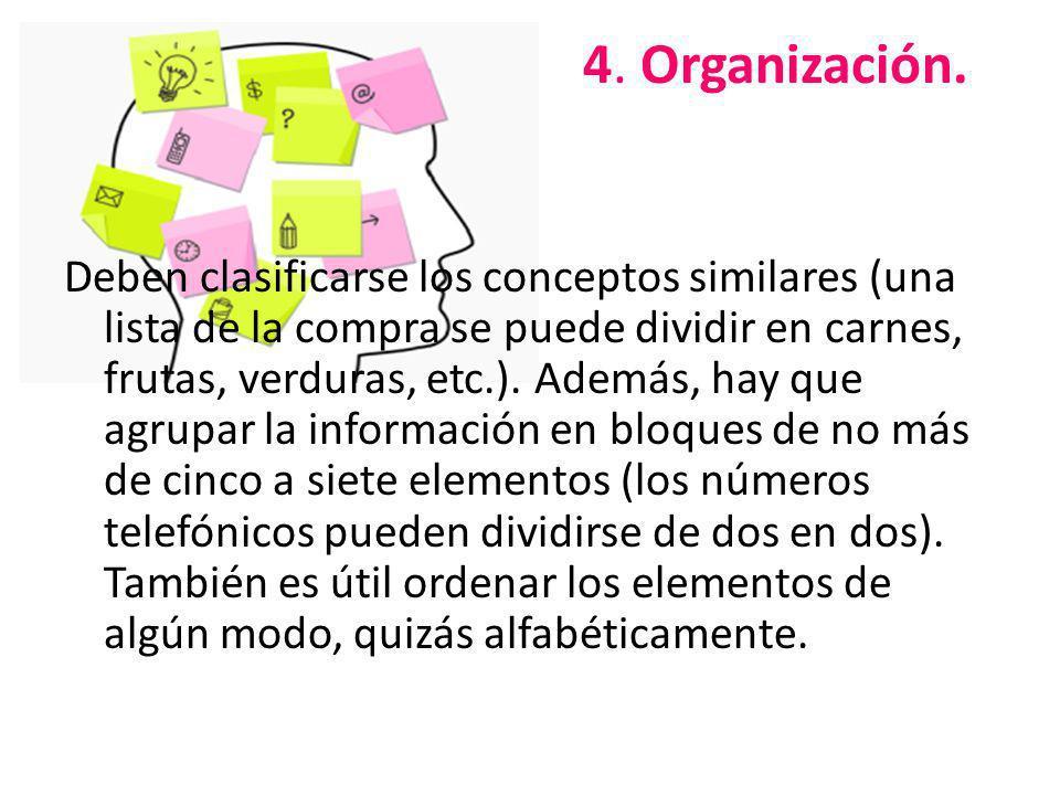 4. Organización.