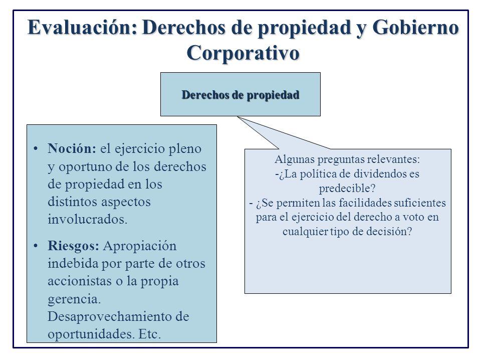 Evaluación: Derechos de propiedad y Gobierno Corporativo