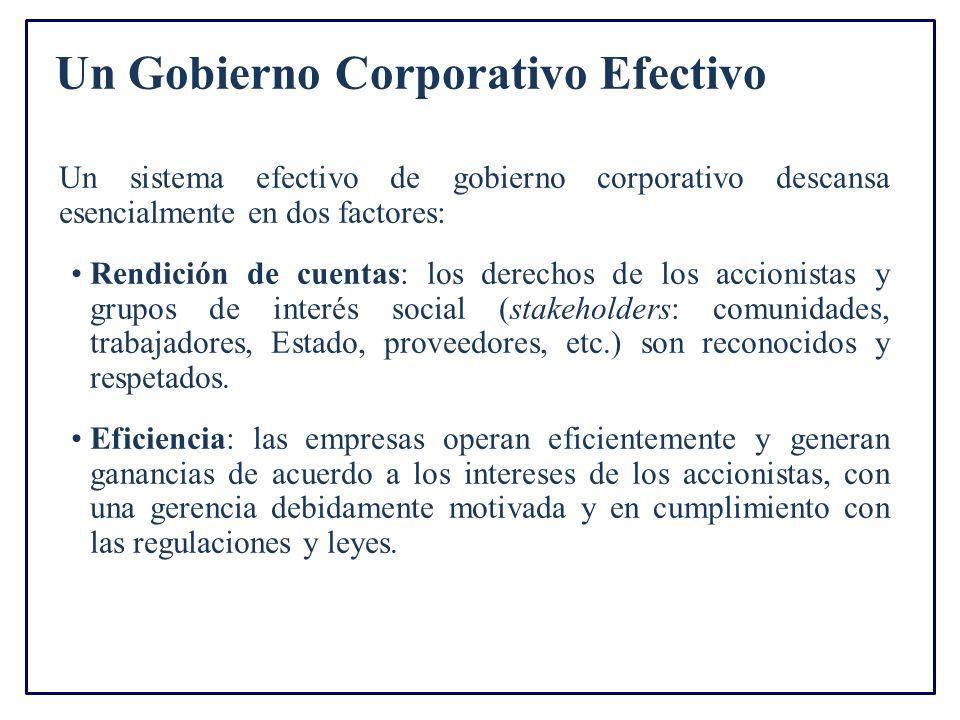 Un Gobierno Corporativo Efectivo