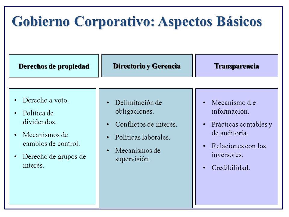 Gobierno Corporativo: Aspectos Básicos