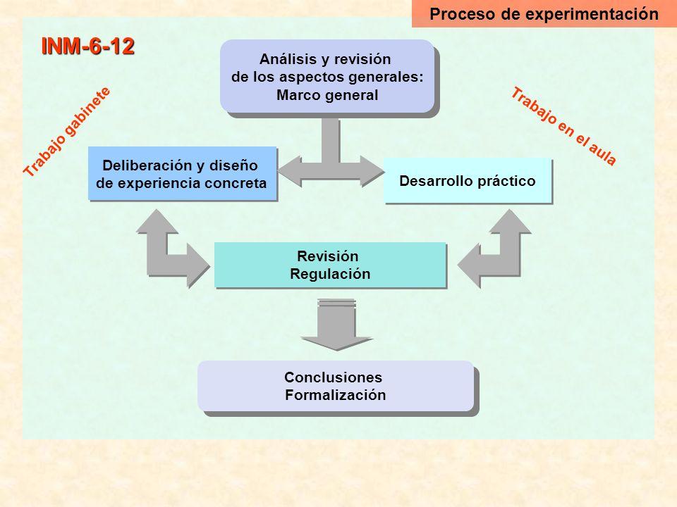 INM-6-12 Proceso de experimentación Análisis y revisión