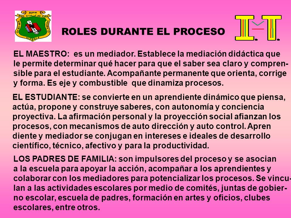 ROLES DURANTE EL PROCESO