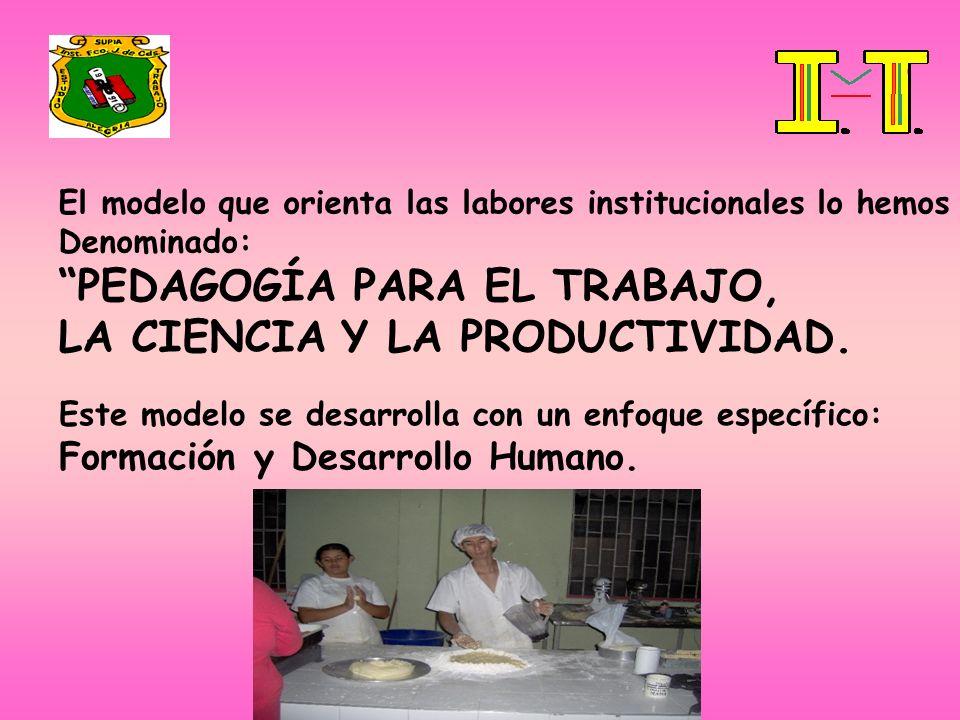 PEDAGOGÍA PARA EL TRABAJO, LA CIENCIA Y LA PRODUCTIVIDAD.