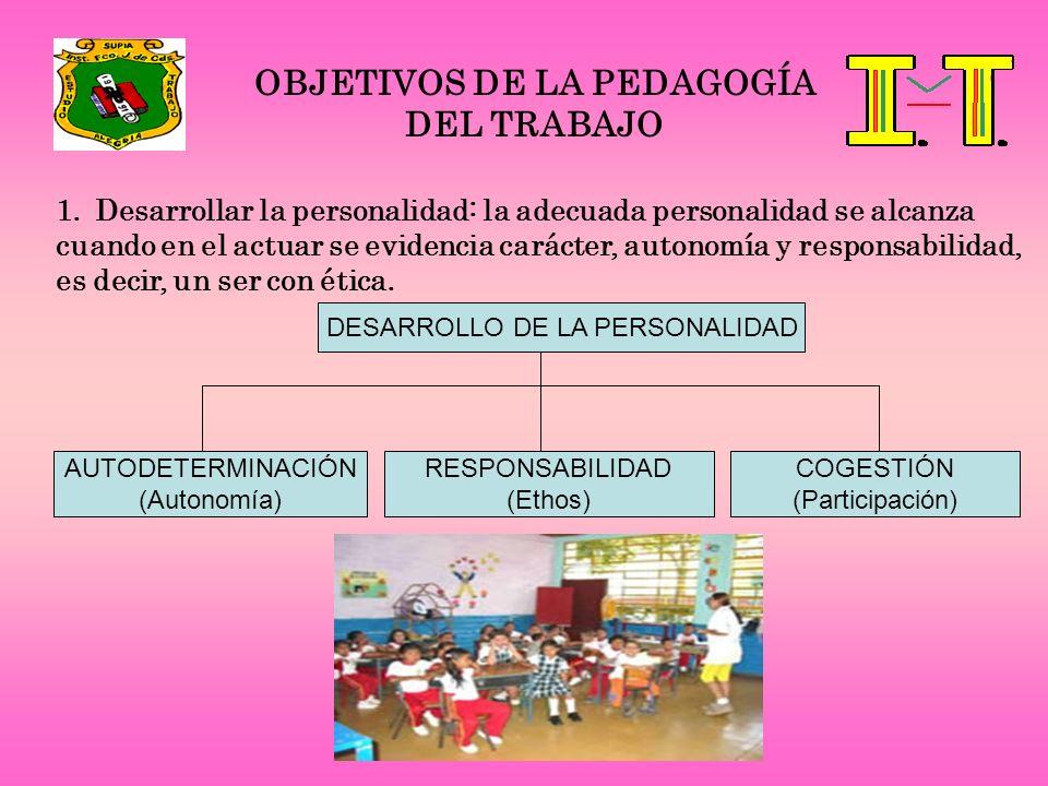 OBJETIVOS DE LA PEDAGOGÍA