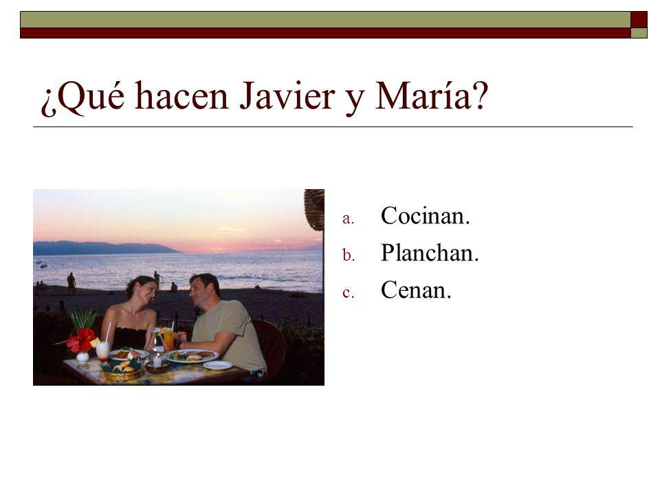 ¿Qué hacen Javier y María