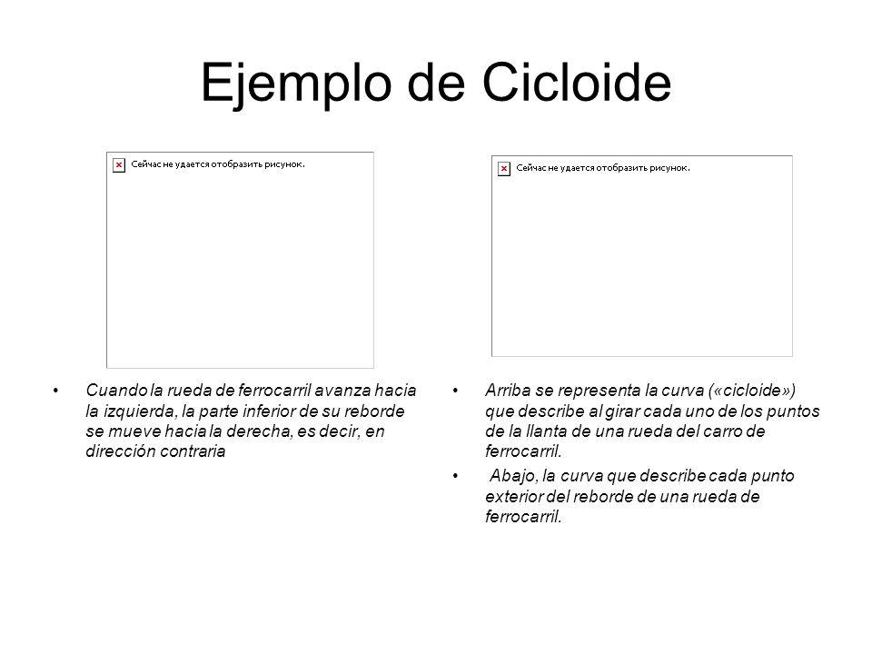 Ejemplo de Cicloide