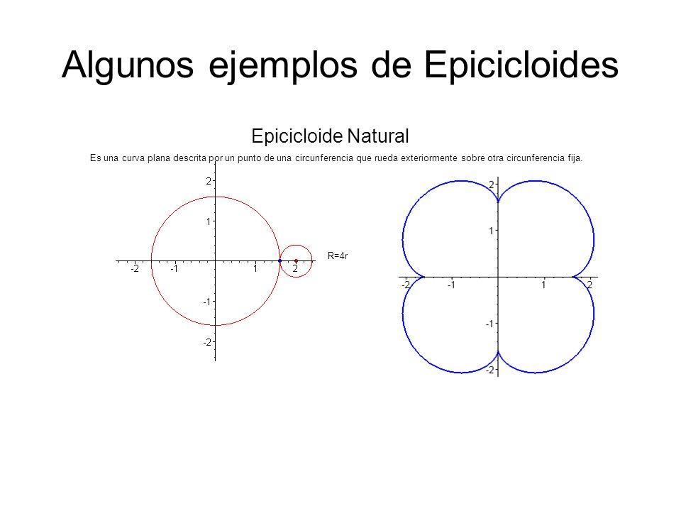 Algunos ejemplos de Epicicloides