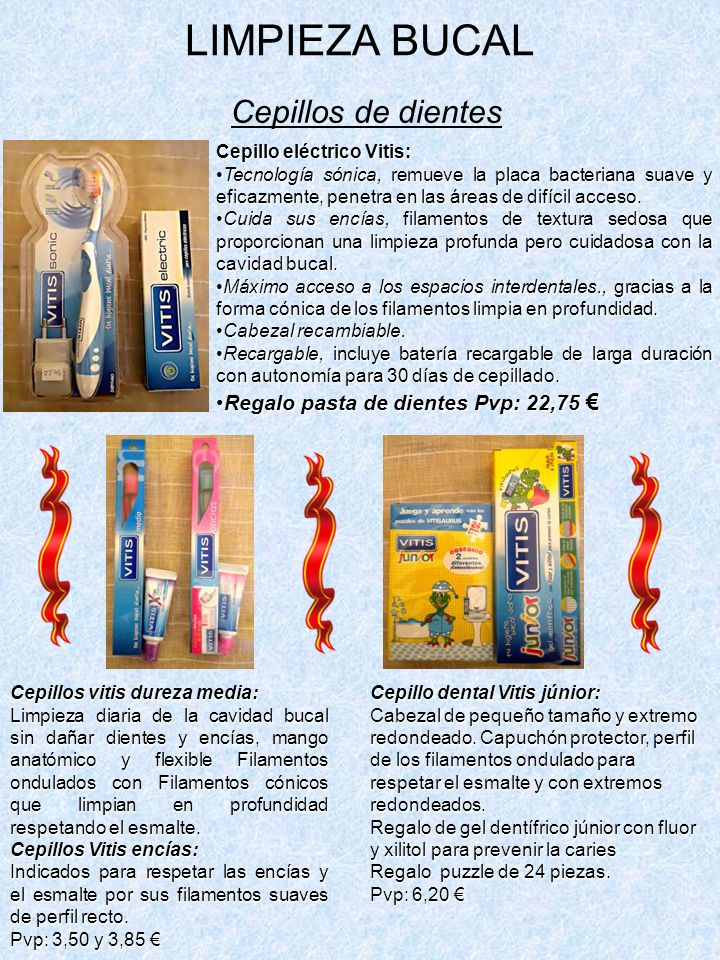 LIMPIEZA BUCAL Cepillos de dientes