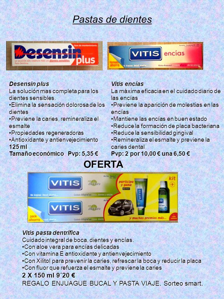 Pastas de dientes OFERTA 2 X 150 ml 9´20 €