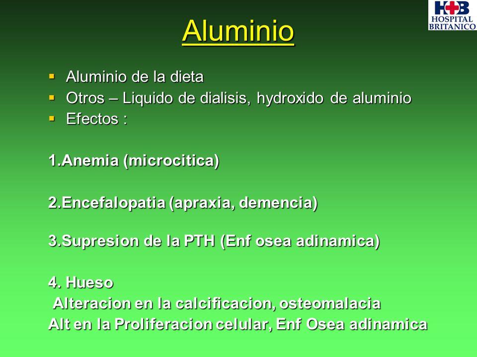 Aluminio Aluminio de la dieta