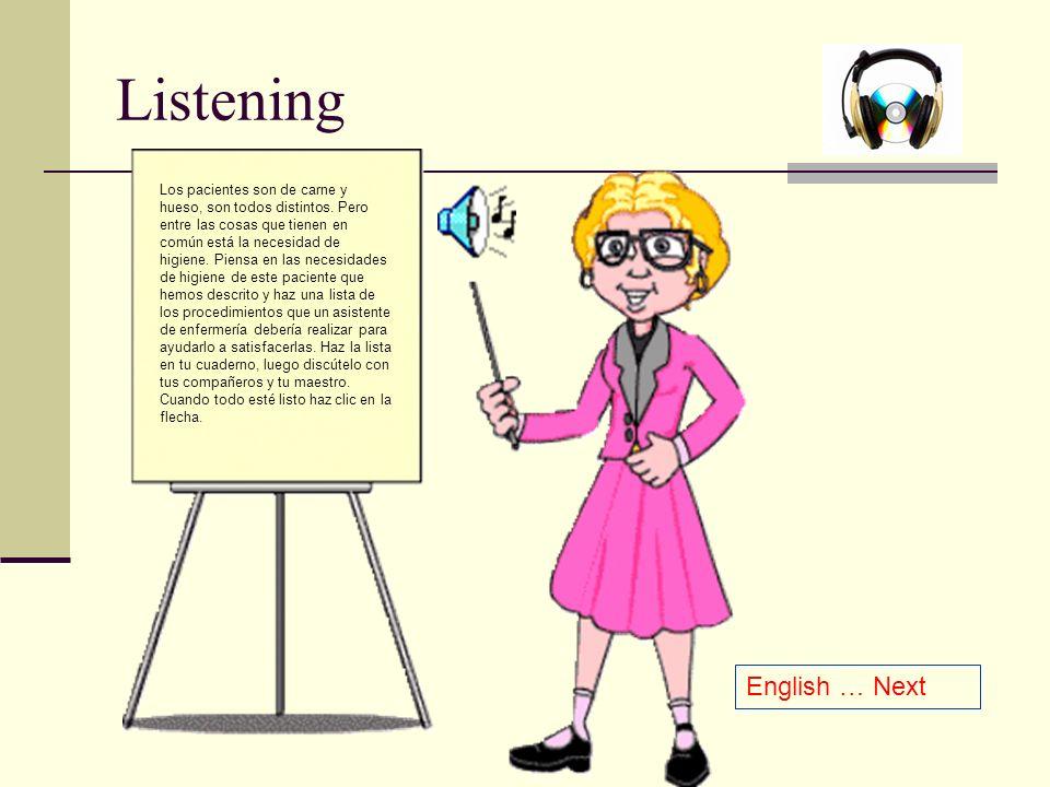 Listening English … Next