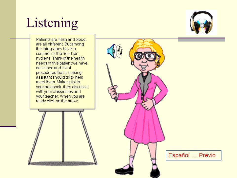Listening Español … Previo