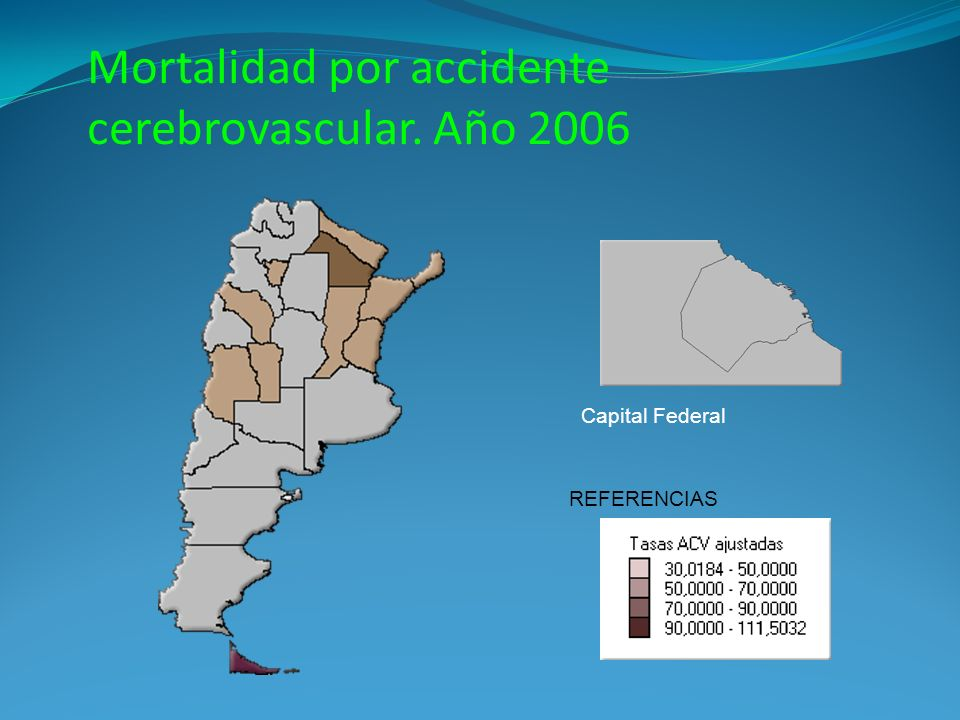 Mortalidad por accidente cerebrovascular. Año 2006
