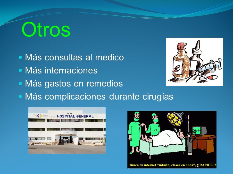 Otros Más consultas al medico Más internaciones Más gastos en remedios