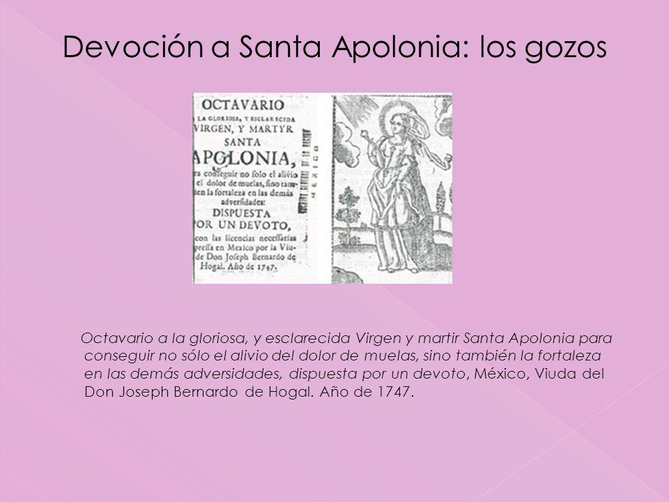 Devoción a Santa Apolonia: los gozos