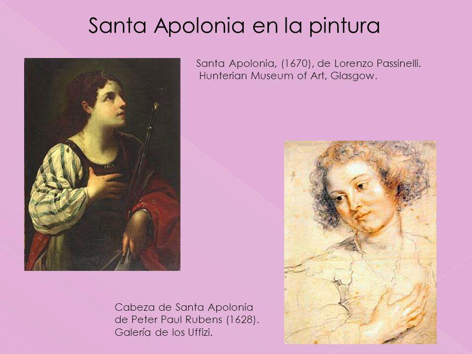 Santa Apolonia en la pintura