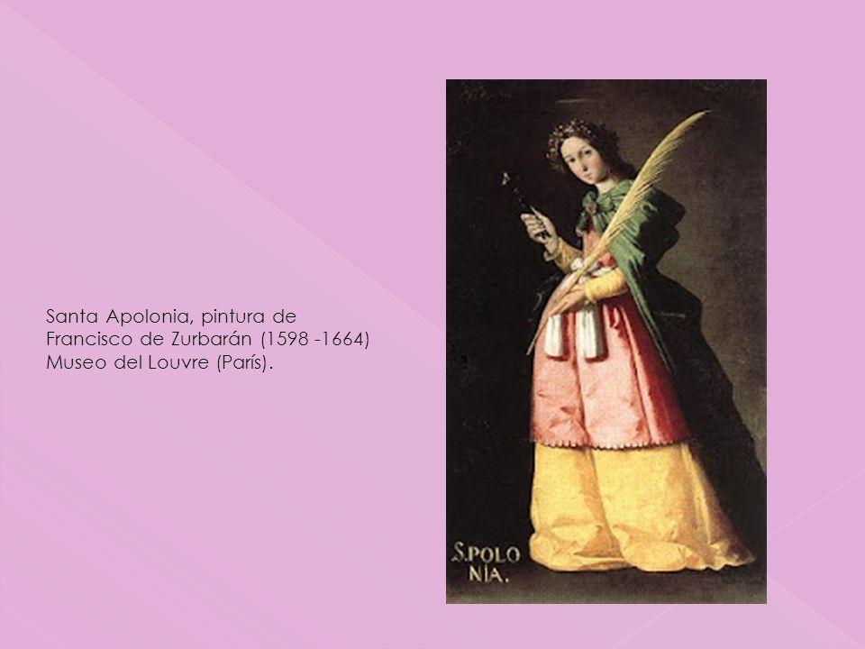 Santa Apolonia, pintura de Francisco de Zurbarán (1598 -1664)