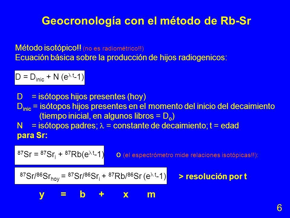 Geocronología con el método de Rb-Sr