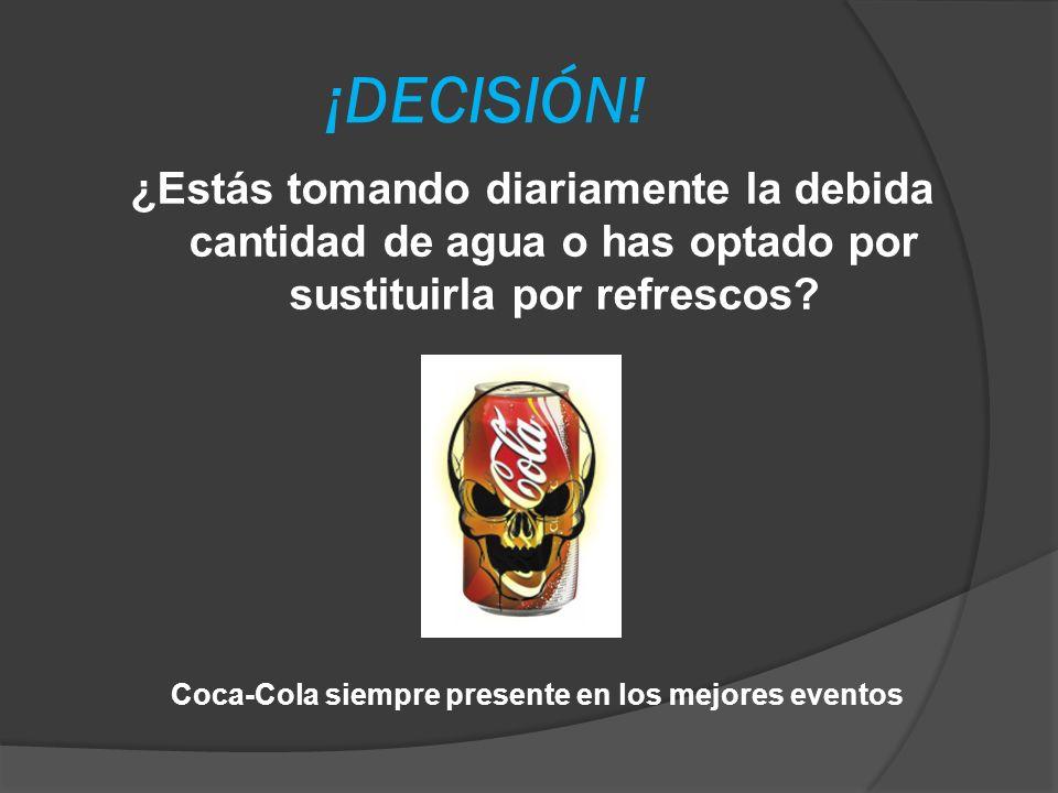Coca-Cola siempre presente en los mejores eventos