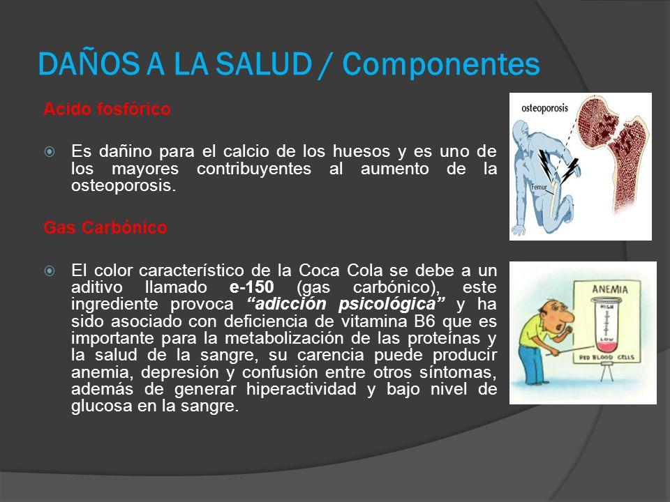 DAÑOS A LA SALUD / Componentes