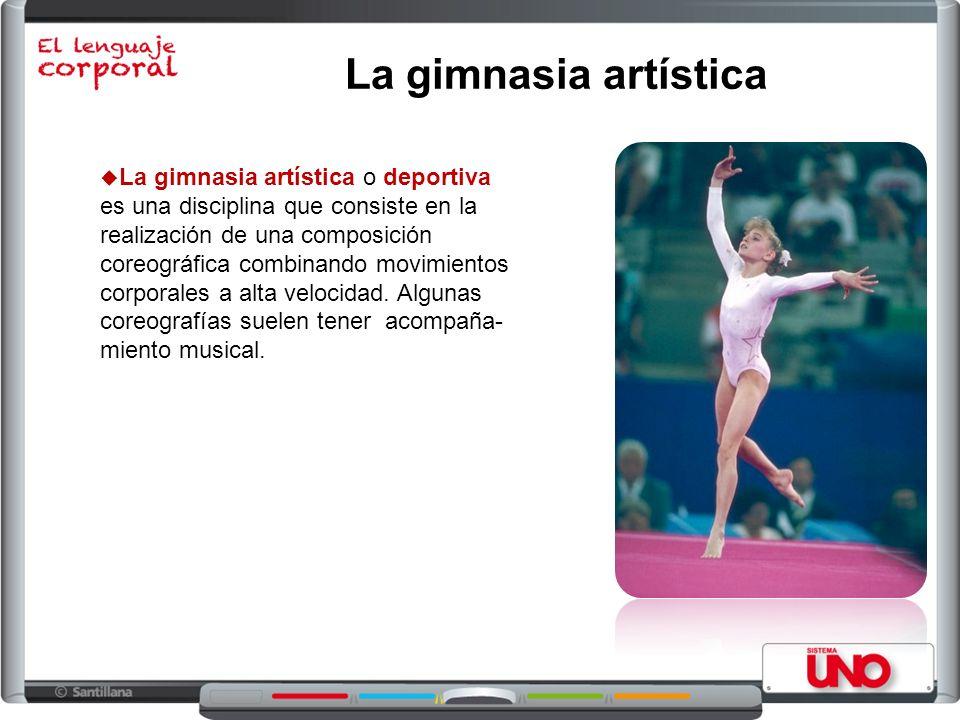 La gimnasia artística