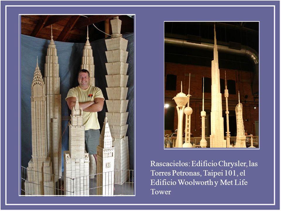 Rascacielos: Edificio Chrysler, las Torres Petronas, Taipei 101, el Edificio Woolworth y Met Life Tower